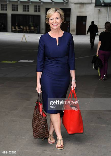 Carol Kirkwood at The BBC on October 27 2015 in London England