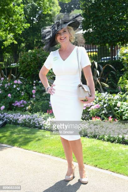Carol Kirkwood attends day 3 of Royal Ascot at Ascot Racecourse on June 22 2017 in Ascot England
