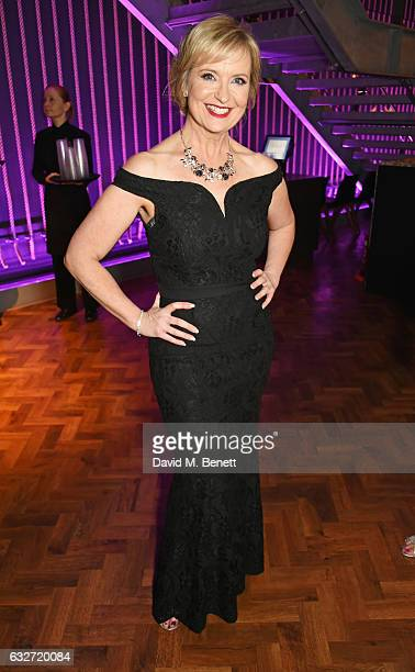 Carol Kirkwood attends the National Television Awards cocktail reception at The O2 Arena on January 25 2017 in London England