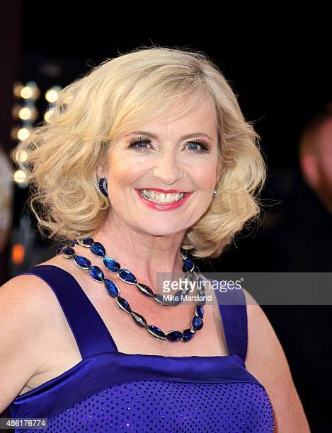 Carol Kirkwood attends the red carpet launch of Strictly Come Dancing 2015 at Elstree Studios on September 1 2015 in Borehamwood England
