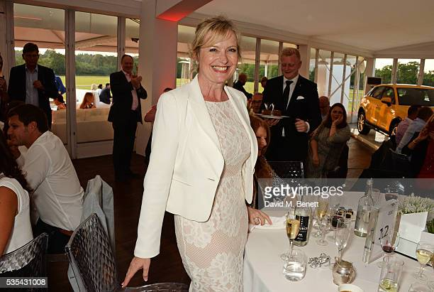Carol Kirkwood celebrates her birthday during day two of the Audi Polo Challenge at Coworth Park on May 29 2016 in London England