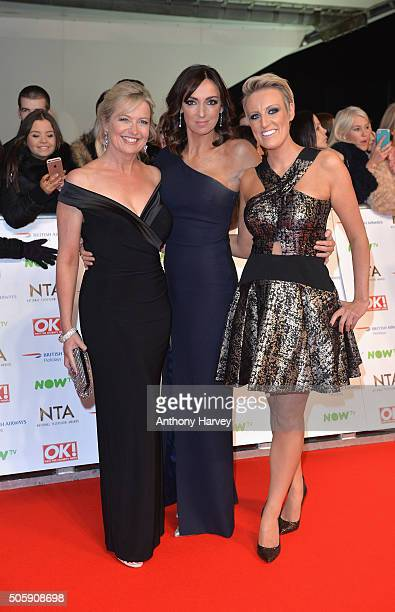 Carol Kirkwood Sally Nugent and Stephanie McGovern attend the 21st National Television Awards at The O2 Arena on January 20 2016 in London England