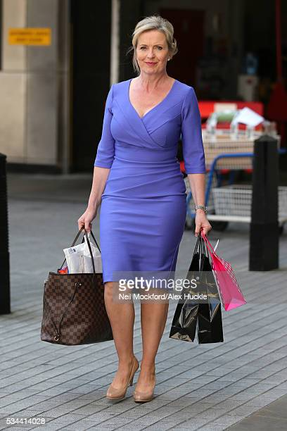 Carol Kirkwood seen at the BBC Portland Place on May 26 2016 in London England