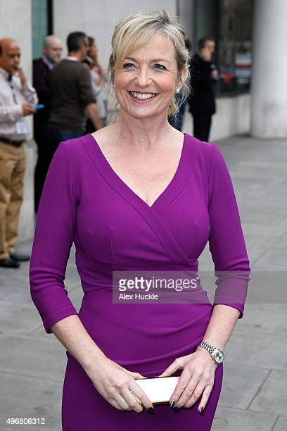 Carol Kirkwood seen at the BBC Portland Place on November 12 2015 in London England Photo by Alex Huckle/GC Images