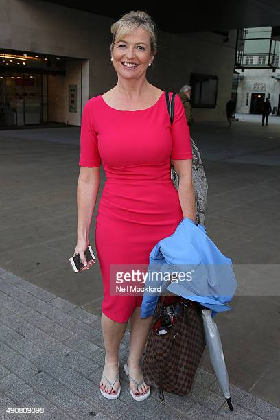 Carol Kirkwood seen at the BBC Studios on October 1 2015 in London England