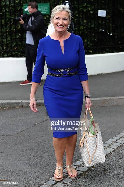 Carol Kirkwood seen at Wimbledon on June 30 2016 in London England