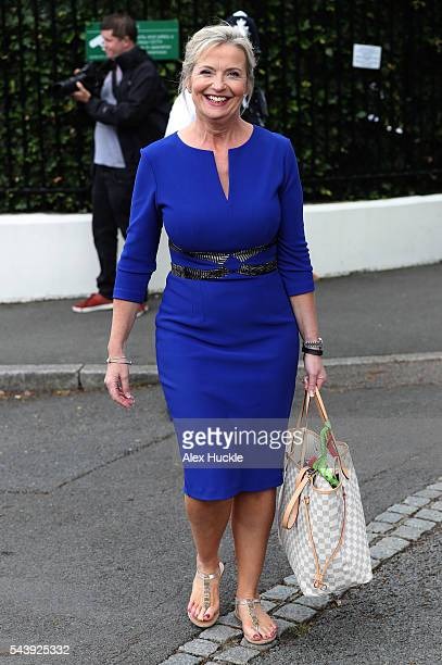 Carol Kirkwood seen at Wimbledon on June 30 2016 in London England