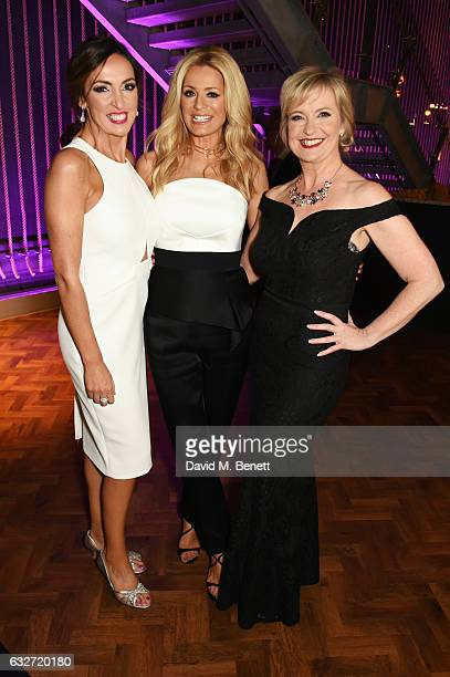 Carol Kirkwood Tess Daly and Sally Nugent attend the National Television Awards cocktail reception at The O2 Arena on January 25 2017 in London...