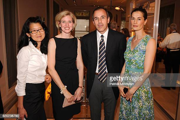 Carol Lee Carol Herring Matt Lauer and Annette Roque attend ROGER VIVIER Cocktail Party Benefiting CENTRAL PARK CONSERVANCY at Roger Vivier on April...