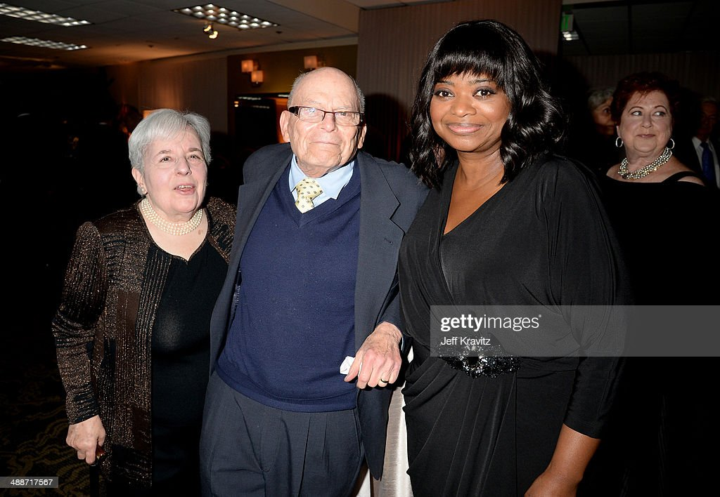 Carol Levy, Dreamworks' Marvin Levy and actress Octavia Spencer attend USC Shoah Foundation's 20th Anniversary Gala at the Hyatt Regency Century Plaza on May 7, 2014 in Century City, California.