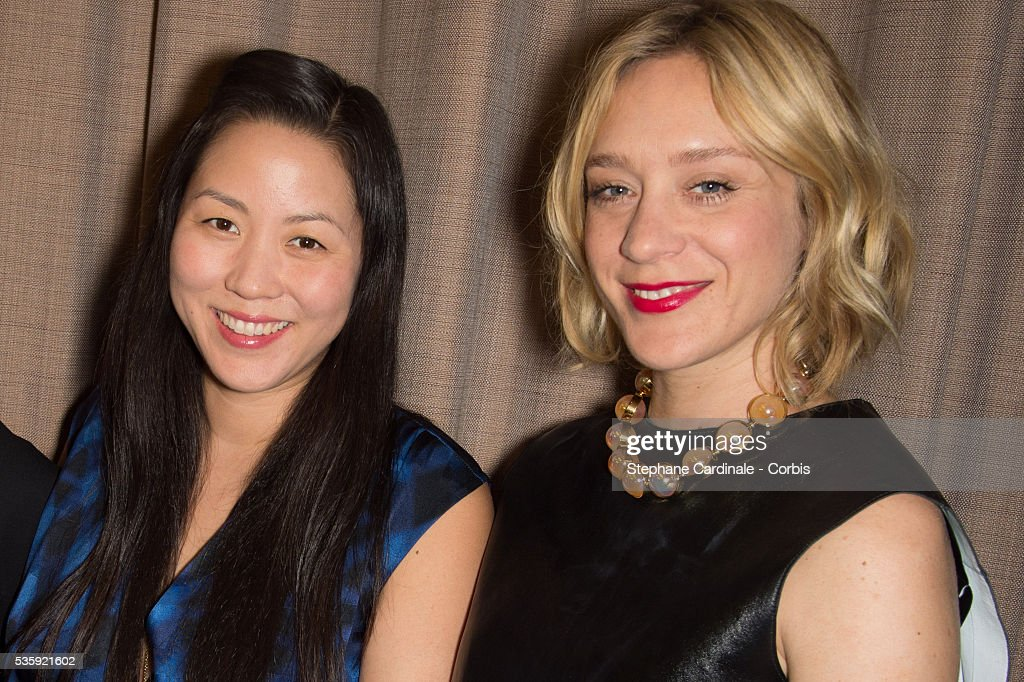 Carol Lim and Chloe Sevigny attend the Sidaction Gala Dinner at Pavillon d'Armenonville, in Paris.