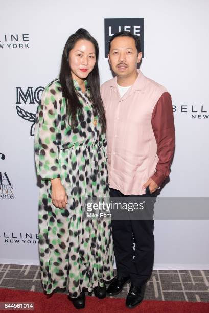 Carol Lim and Humberto Leon attend the Daily Front Row's Fashion Media Awards at Four Seasons Hotel New York Downtown on September 8 2017 in New York...