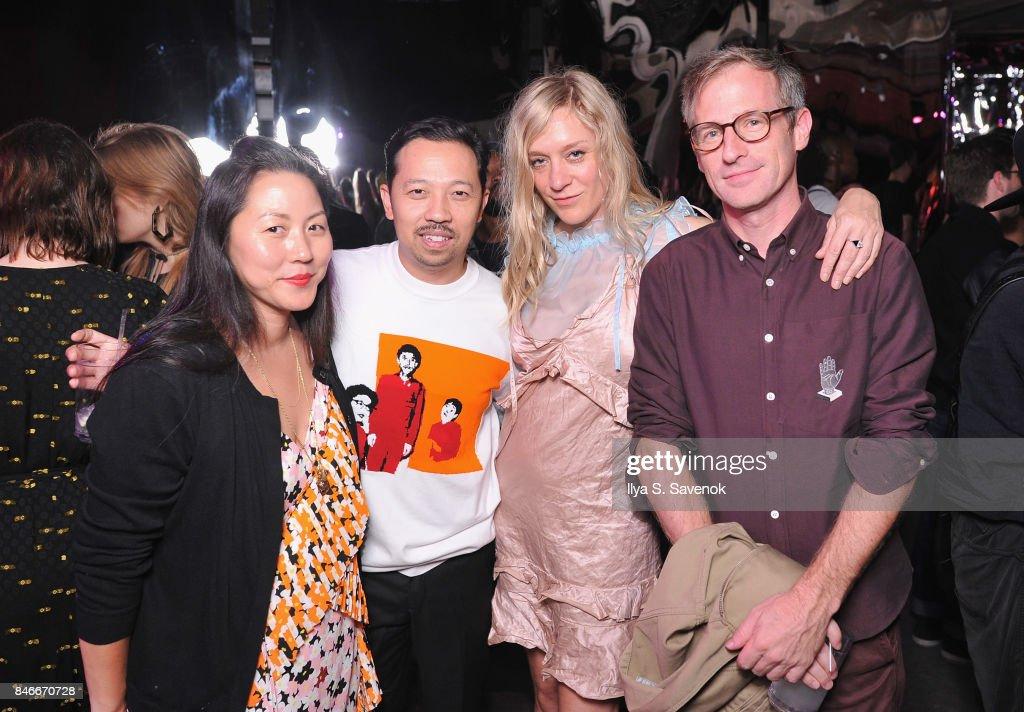 Carol Lim, Humberto Leon, Chloe Sevigny and Spike Jonze attend KENZO, Humberto Leon, Carol Lim and Natasha Lyonne Premiere 'Cabiria, Charity, Chastity' In New York City at Public Arts on September 13, 2017 in New York City.