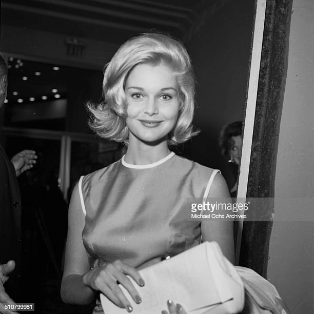 Carol Lynley attends a party in Los AngelesCA