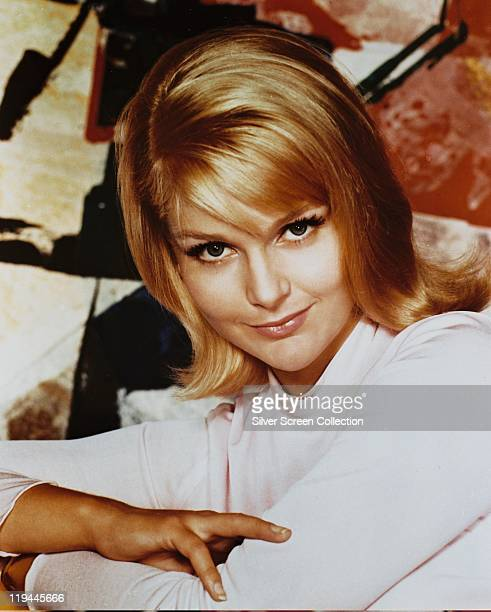 Carol Lynley US actress wearing a white top in a studio portrait 1970