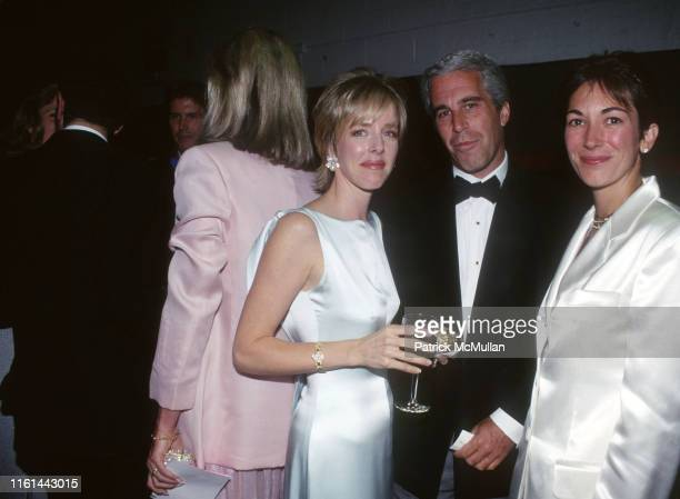 Carol Mack, Jeffrey Epstein and Ghislaine Maxwell attend Henry Street Settlement Event on May 16, 1995 in New York City.