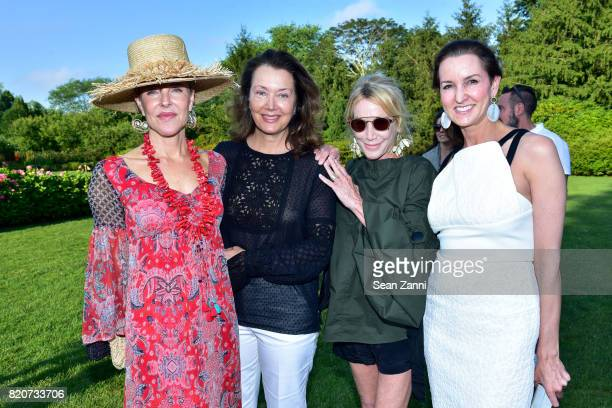 Carol Mack Lisa McCarthy Lisa Jackson and Alexia Hamm Ryan attend ARF in the Garden of Peter Marino at a Private Residence on July 15 2017 in...