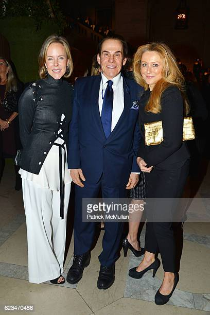 Carol Mack R Couri Hay and Caroline Berthet attend David Monn Launches The Art of Celebrating at New York Public Library on November 14 2016 in New...