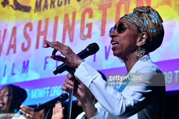 Carol Maillard of Sweet Honey In the Rock performs at the opening night of March On Washington Film Festival on July 12 2018 in Washington DC