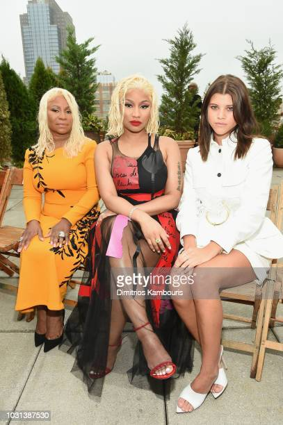 Carol Maraj Rapper Nicki Minaj and model Sofia Richie attend the Oscar De La Renta front Row during New York Fashion Week The Shows at Spring Studios...