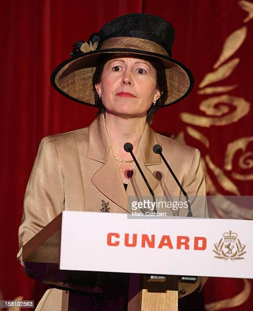 Carol Marlow President And Md Of Cunard Launches The Queen Victoria Ship In Southampton