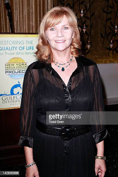 Carol Masterson poses during an evening benefiting The New York Rescue Workers and Gulf Coast Detoxification Projects at Fig Olive Melrose Place on...