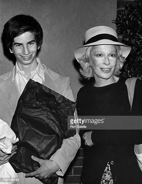 Carol Matthau and son during Carol Matthau Sighting in Beverly Hills California on June 9 1977 at La Scala Restaurant in Beverly Hills California...
