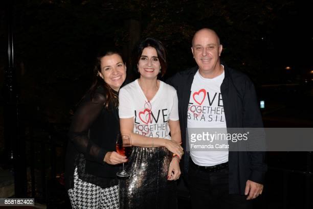 Carol Mazza Fernanda Calfat and DJ Augusto Mazza attend at Po de Arroz Runway at New York Fashion Week Bridal October 2017at Hendrick's Tavern on...