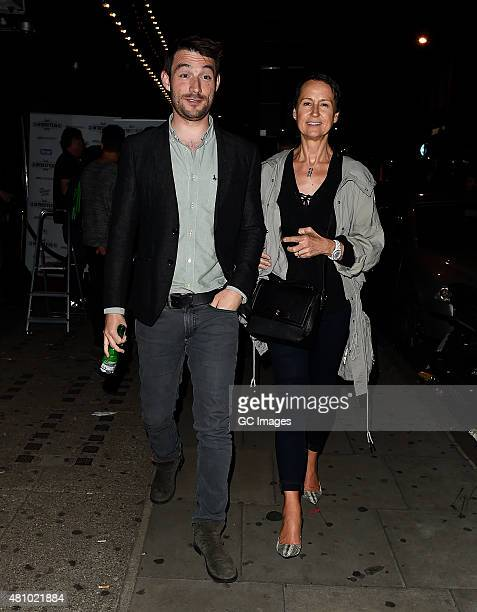Carol McGiffin and Mark Cassidy attend In The Style's Summer Part at The Drury Club on July 16 2015 in London England