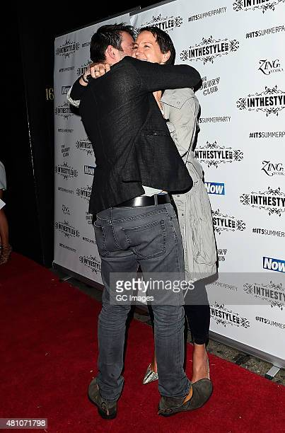 Carol McGiffin and Mark Cassidy attend In The Style's Summer Party at The Drury Club on July 16 2015 in London England