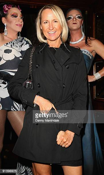 Carol McGiffin attends a party to celebrate ten years of the television programme Loose Women at Cafe de Paris on October 8 2009 in London England