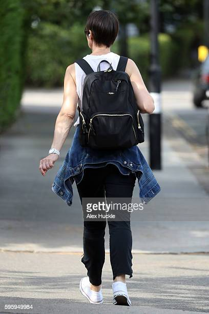 Carol McGiffin is seen taking a stroll on August 16 2016 in London England
