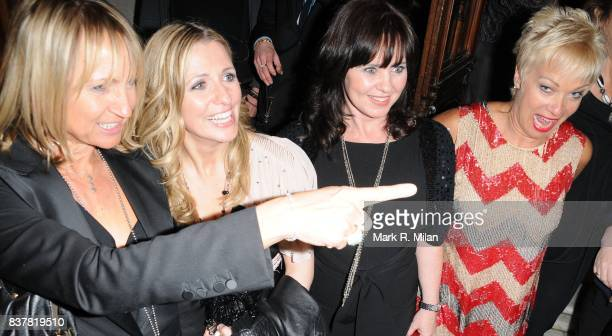 Carol McGiffin Jackie Brambles Coleen Nolan and Denise Welch attend the press night of 'Calendar Girls' in London