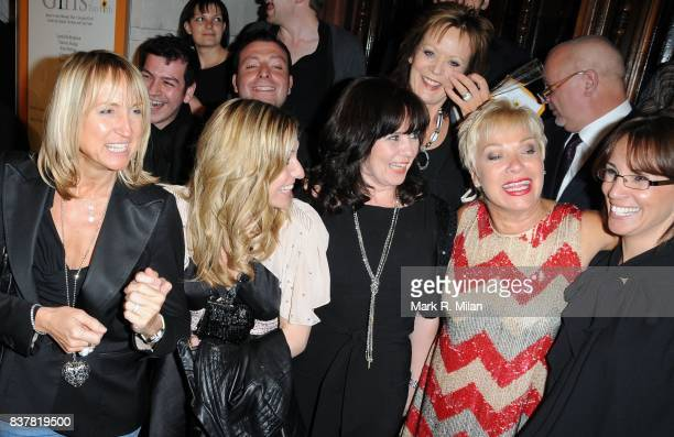 Carol McGiffin, Jackie Brambles, Coleen Nolan, Denise Welch and Andrea McClean attend the press night of 'Calendar Girls' in London.