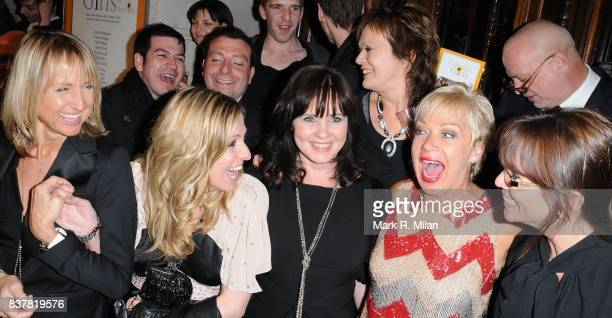 Carol McGiffin Jackie Brambles Coleen Nolan Denise Welch and Andrea McClean attend the press night of 'Calendar Girls' in London