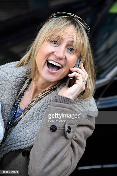 Carol McGiffin sighted departing ITV Studios on February 4 2013 in London England