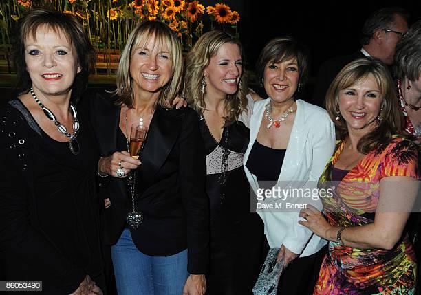 Carol McGriffin, Jackie Brambles, Lynda Bellingham and Lesley Garrett attend the Gala Night of 'Calendar Girls', at the Noel Coward Theatre on April...