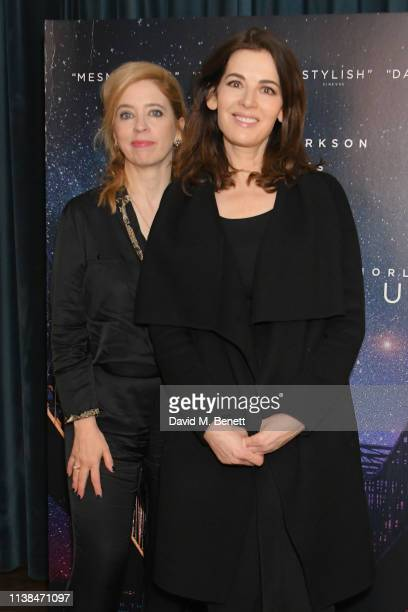 Carol Morley and Nigella Lawson attend an exclusive preview screening of Out Of Blue at the Picturehouse Central on March 26 2019 in London England