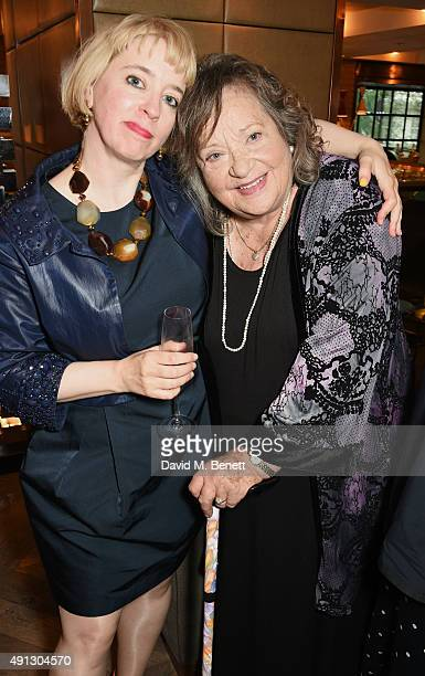 Carol Morley and Sylvia Syms attend the Voice Of A Woman Awards at the Belgraves Hotel on October 4 2015 in London England