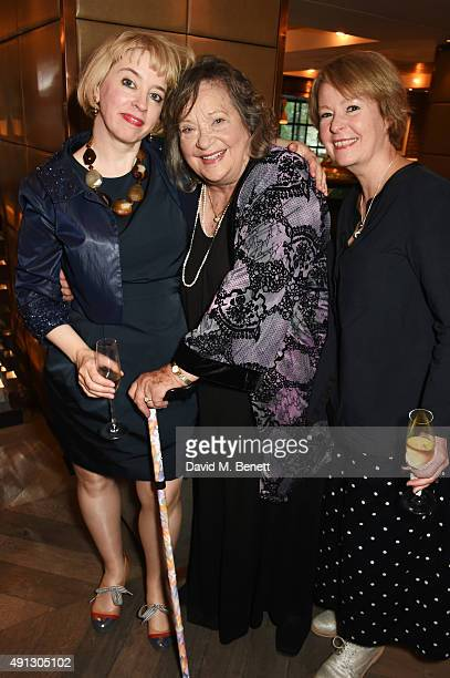 Carol Morley Sylvia Syms and Cairo Cannon attend the Voice Of A Woman Awards at the Belgraves Hotel on October 4 2015 in London England