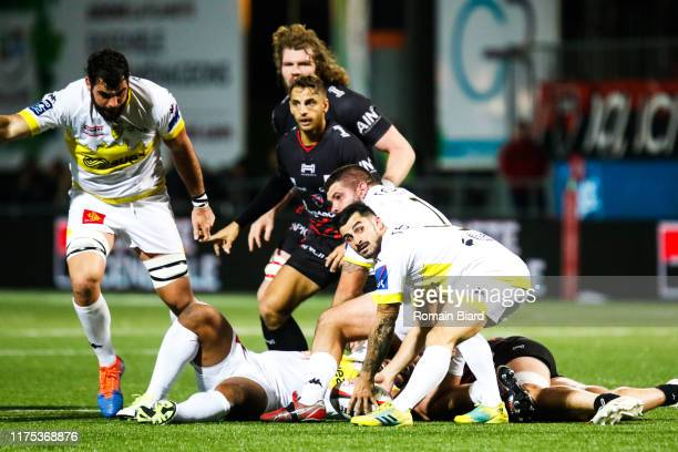 Carol RAYNAUD of Carcassonne during the Pro D2 match between Oyonnax and Carcassonne at Stade Charles Mathon on October 11 2019 in Oyonnax France
