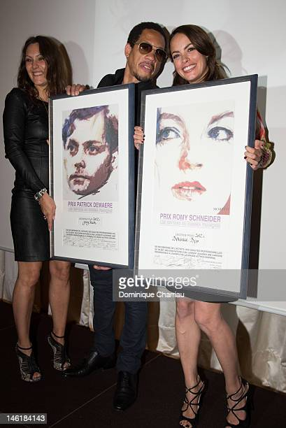 Carol RocherJoeystarr and Berenice Bejo attend the Romy Schneider And Patrick Dewaere Awards 2012 at Hotel ShangriLa on June 11 2012 in Paris France