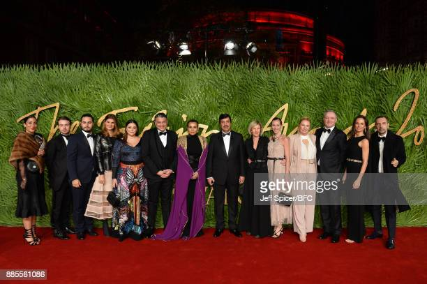 Carol SabbaghaFeras YasinSheikha Aisha Al ThaniAbdul Aziz Mohammed Al RabbanEvelyne De Croutteguests and Sean Kelly attend The Fashion Awards 2017 in...