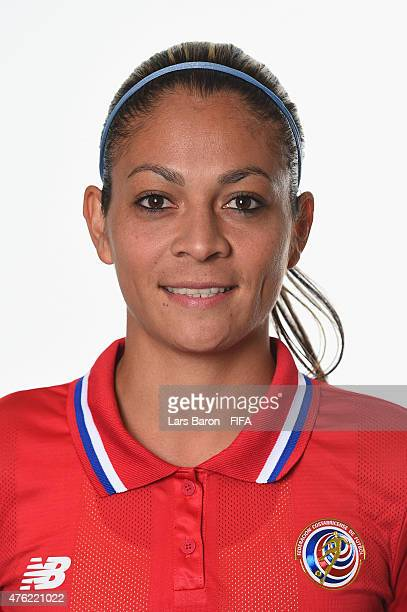 Carol Sanchez of Costa Rica poses during the FIFA Women's World Cup 2015 portrait session at Sheraton Le Centre on June 6 2015 in Montreal Canada