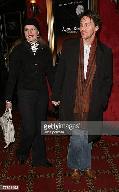 Carol Schneider and Actor Andrew McCarthy arrive at the August Rush Premiere at the Ziegfeld Theater on November 11 2007 in New York City