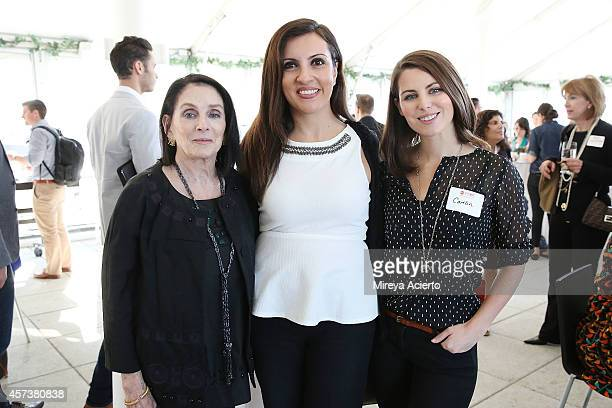 Carol Schneider Silvia Davi and Caitlin Gassert attend Founder's Welcome Breakfast during Food Network New York City Wine Food Festival Presented By...