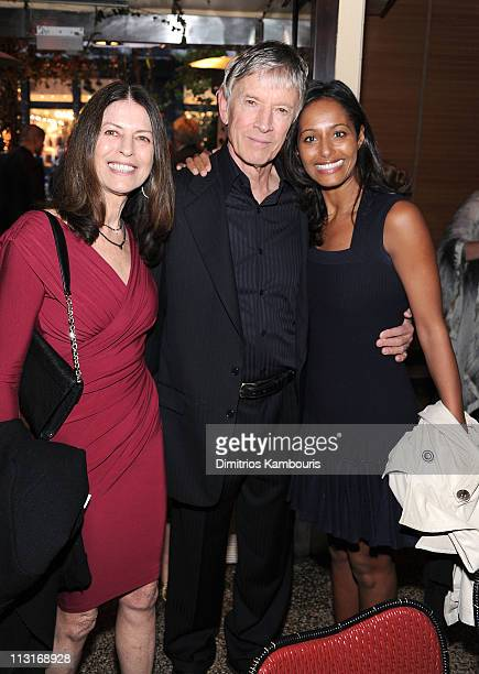 Carol Schwartz actor Scott Glenn and Rula Jebreal attend the CHANEL Tribeca Film Festival artisits dinner at The Odeon on April 25 2011 in New York...