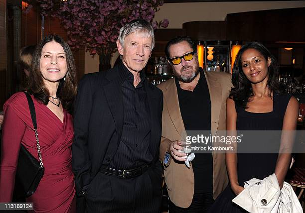 Carol Schwartz actor Scott Glenn director Julian Schnabel and Rula Jebreal attend the CHANEL Tribeca Film Festival artisits dinner at The Odeon on...