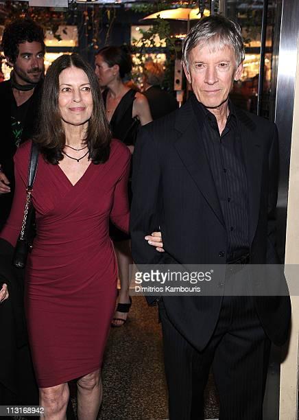 Carol Schwartz and actor Scott Glenn attend the CHANEL Tribeca Film Festival artisits dinner at The Odeon on April 25 2011 in New York City