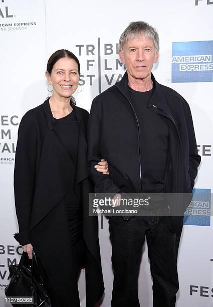 Carol Schwartz and actor Scott Glenn attend the Tribeca Film Festival American Express Cinema Society Premiere Of The Bang Bang Club at BMCC Tribeca...